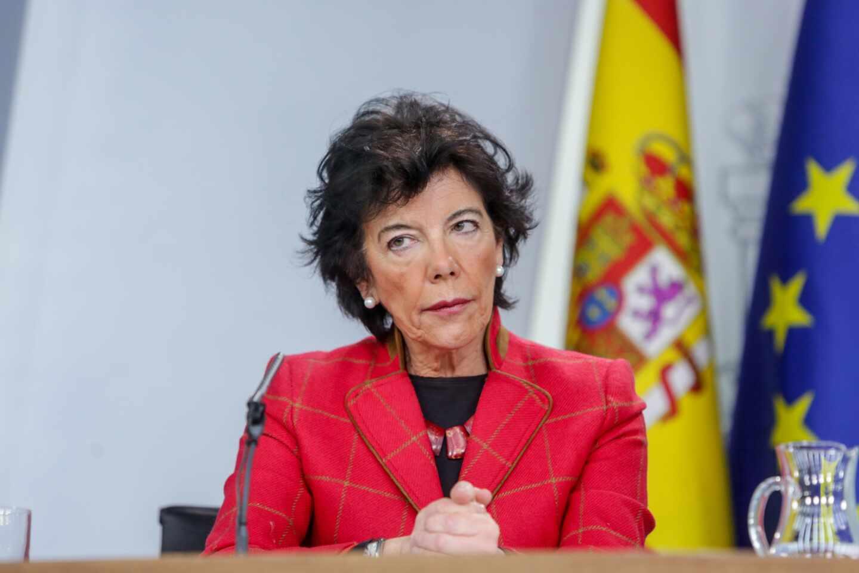 La ministra de Educación, Isabel Celaá.