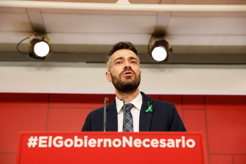 El diputado socialista Felipe Sicilia, en un acto de su partido.