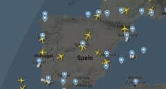 Visualización del tráfico en el espacio aéreo español.