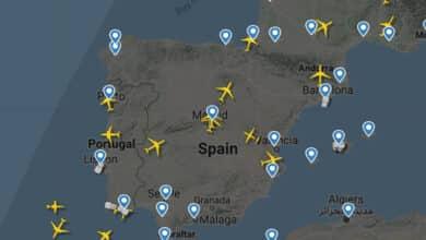 Los cielos españoles se quedan sin aviones: de 4.800 a 450 vuelos al día en dos semanas