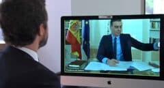 Reunión por videoconferencia entre el presidente del Gobierno, Pedro Sánchez, y el líder del PP, Pablo Casado