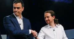 Pedro Sánchez y Pablo Iglesias, en una imagen anterior al estallido de la pandemia.