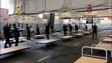La Generalitat descarta utilizar el hospital de campaña montado por la Guardia Civil