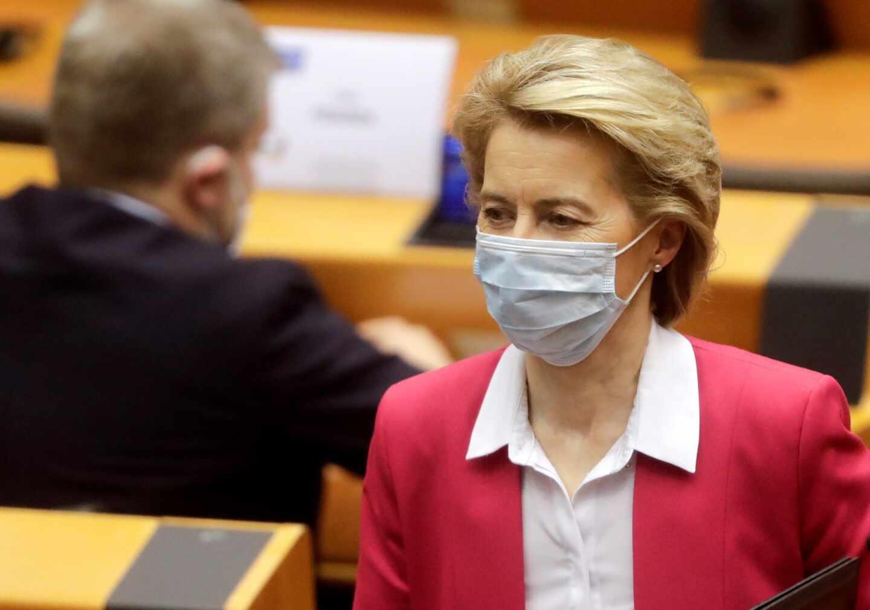 La presidenta de la Comisión Europea, Ursula von der Leyen, en el Parlamento Europeo.