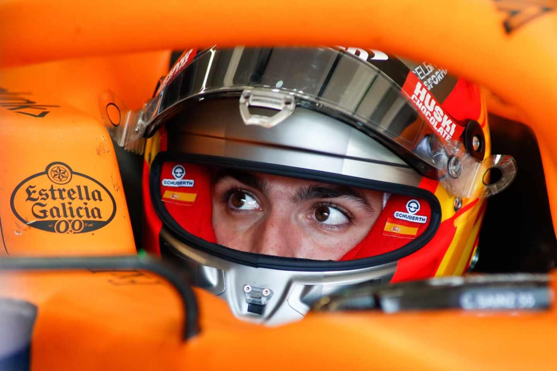 Carlos Sainz durante los test de pretemporada