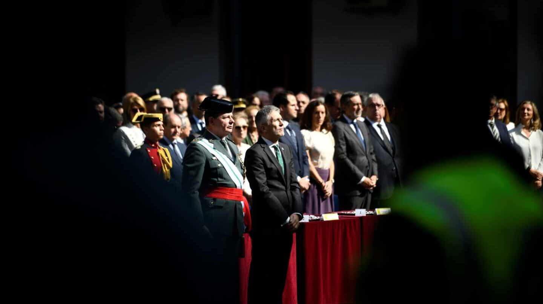 Laurentino Ceña y el ministro Grande-Marlaska, en la última celebración de la patrona de la Guardia Civil.