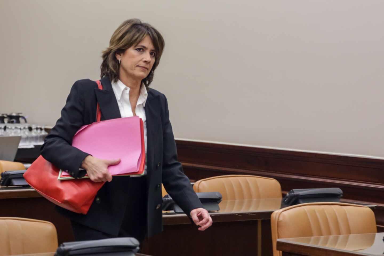 La fiscal general del Estado, Dolores Delgado, en el Congreso de los Diputados.