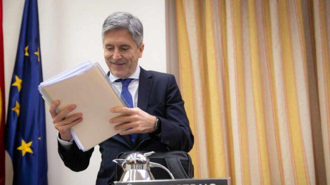 El ministro del Interior, Fernando Grande-Marlaska, en una comparecencia en el Congreso.