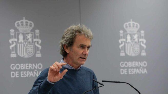 Fernando Simón, director del Centro de Coordinación y Emergencias Sanitarias, en una comparecencia informativa.