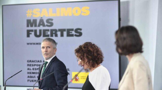 El ministro del Interior, Fernando Grande-Marlaska, en la comparecencia posterior a la reunión del Consejo de Ministros de este martes.