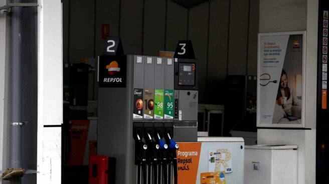 Gasolinera de Repsol en Madrid.