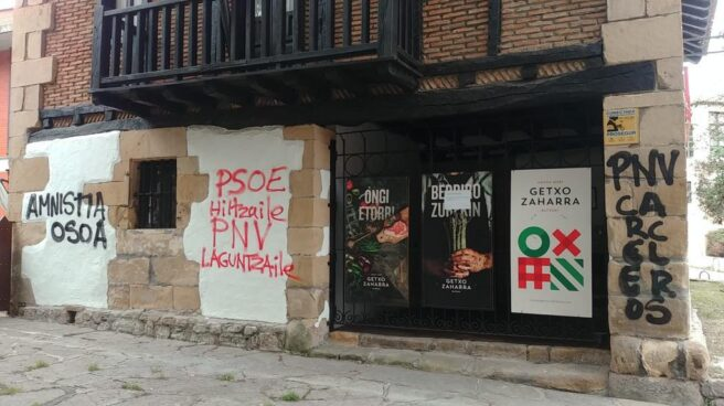 Batzoki de Getxo atacado en defensa del preso de ETA, Patxi Ruiz.