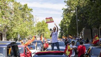 """Hablan los manifestantes de Vox: """"La calle no es de la izquierda"""""""