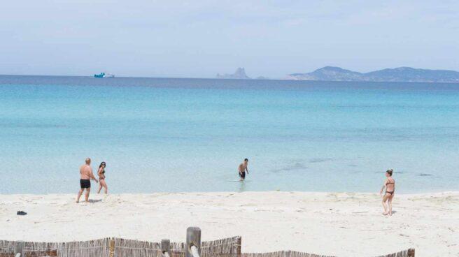 Playa de Formentera durante la fase 1