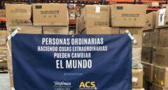 """ACS y Telefónica traen de  China más de 200.000 """"buzos"""" para el personal sanitario de toda España"""