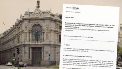 Las compras del Banco de España: gel de medio litro a 17,55 euros y mascarilla a 9,44