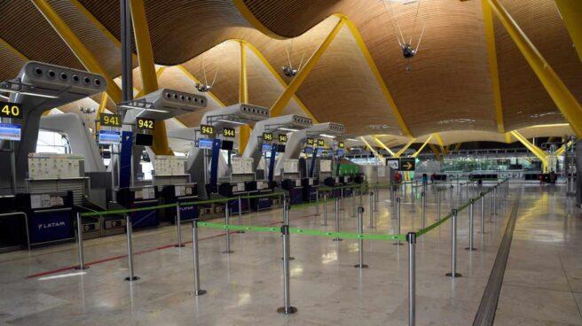El aeropuerto de Madrid-Barajas sin pasajeros.