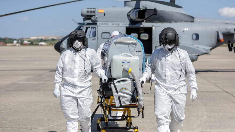 Trabajo del Ejército del Aire en la Operación BALMIS