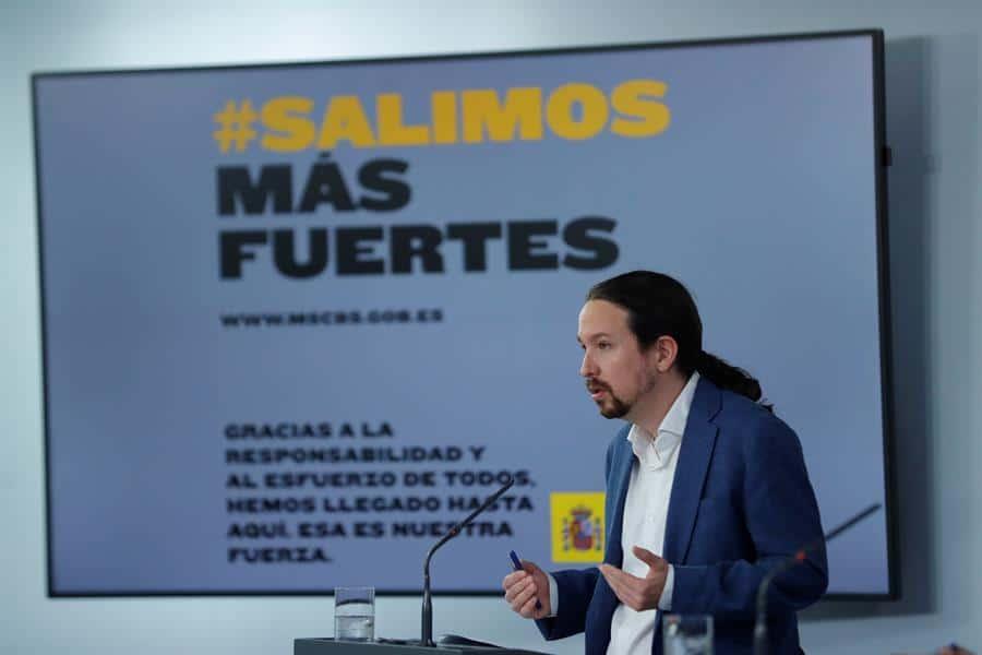 El vicepresidente segundo, Pablo Iglesias, ofrece una rueda de prensa tras el Consejo de Ministros