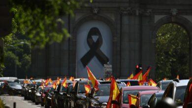 Galería: la caravana de Vox en Madrid en imágenes