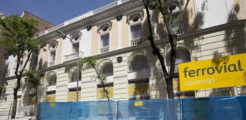 Obras en Madrid de la compañía Ferrovial con la marca Agroman.
