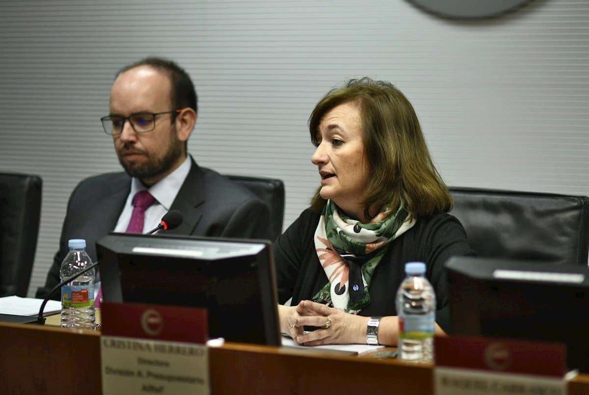 La presidenta de la AIReF, Cristina Herrero.