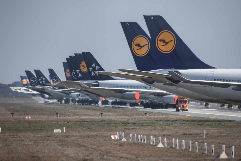 Aviones de la aerolínea alemana Lufthansa.