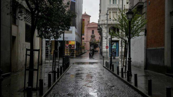 Calles de Madrid vacías durante el estado de alarma.