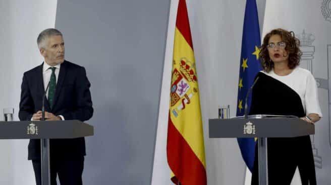 Grande-Marlaska y Montero, el pasado martes en la comparecencia informativa tras la reunión semanal del Consejo de Ministros.