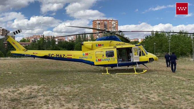 Vídeo: trasladan a un hombre en helicóptero a La Paz tras sufrir quemaduras con una barbacoa