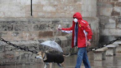 Llega la borrasca 'Álex' con descenso de las temperaturas, lluvias y fuertes rachas de viento