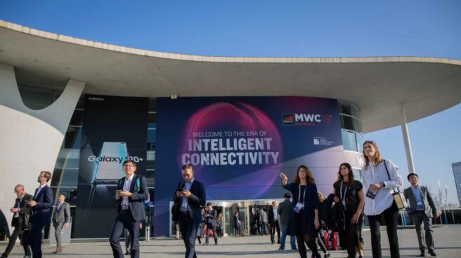 Asistentes al Mobile World Congress (MWC) de Barcelona en 2019.
