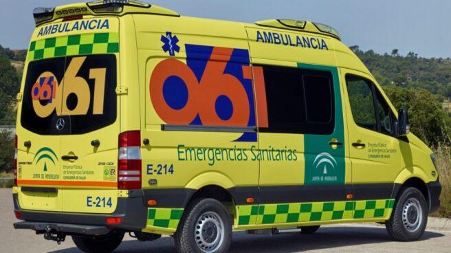 Ambulancia de la Junta de Andalucía.