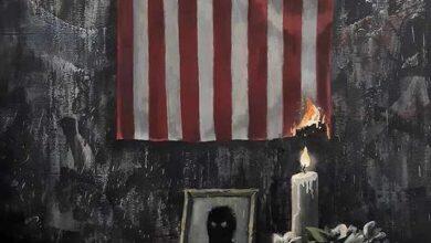 """La obra de Banksy para condenar la muerte de George Floyd: """"El sistema falla a la gente negra"""""""