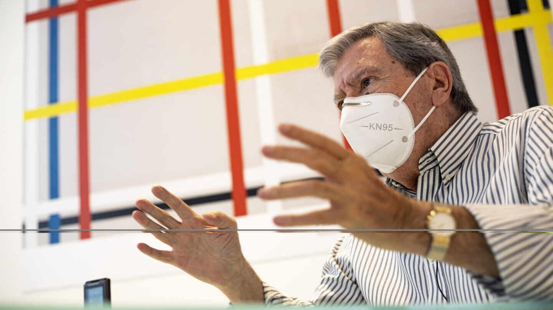 El ex ministro José Luis Corcuera, durante la entrevista con El Independiente en el Museo Thyssen-Bornemisza