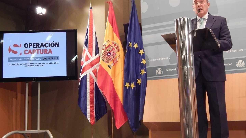 Diego Pérez de los Cobos, en una comparecencia en el Ministerio del Interior.