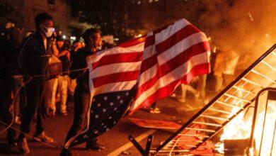 Trump se refugió en el búnker de la Casa Blanca rodeada de manifestantes