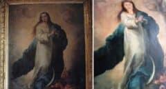 Destrozan en una restauración una Inmaculada de Murillo al estilo 'Ecce Homo'