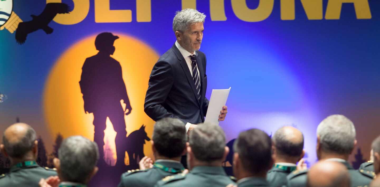 El ministro del Interior, Fernando Grande-Marlaska, en un acto del Seprona (Guardia Civil).
