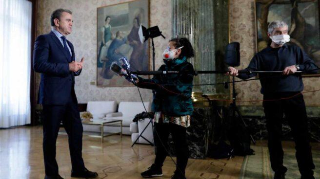 El delegado del Gobierno en Madrid, José Manuel Franco, durante una entrevista televisiva.