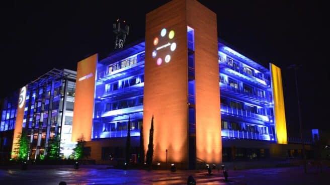 Edificio de Mediaset en el barrio de Fuencarral (Madrid)