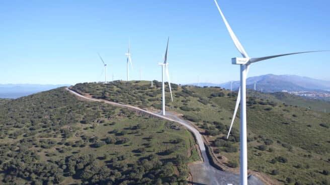 Parque Eolico Merengue, propiedad de Naturgy, en Extremadura