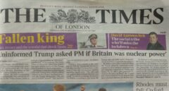 """'The Times' lleva a su portada a Juan Carlos, """"el rey caído"""", en el aniversario de su abdicación"""