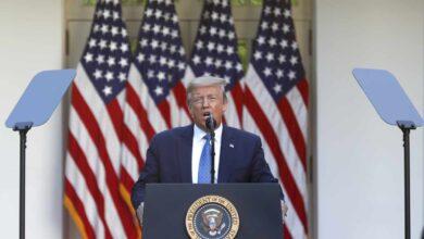 Donald Trump presume del empleo y da por superadas las crisis del coronavirus y Floyd