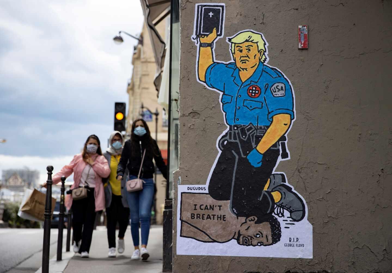 Trump mural George Floyd