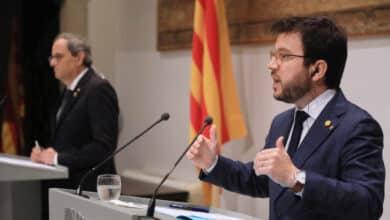 Torra y Aragonés intentan escenificar unidad con un plan de reformas para 2022