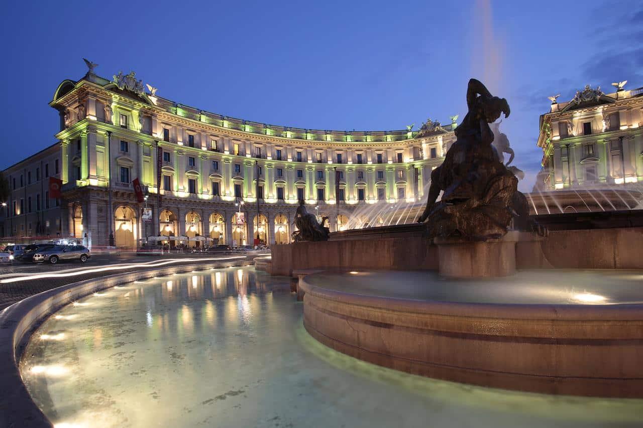 El hotel Palazzo Naiadi de Roma que gestiona NH Hotel Group.