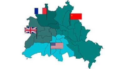 Cuando los vencedores de la II Guerra Mundial dividieron Berlín en cuatro partes