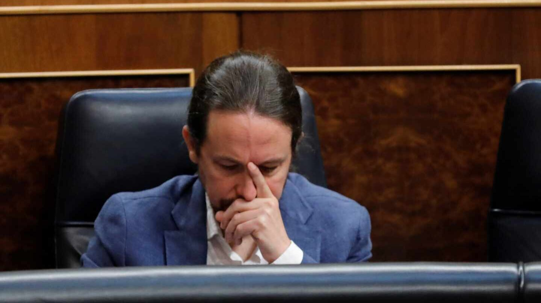 Pablo Iglesias, en el Congreso de los Diputados.