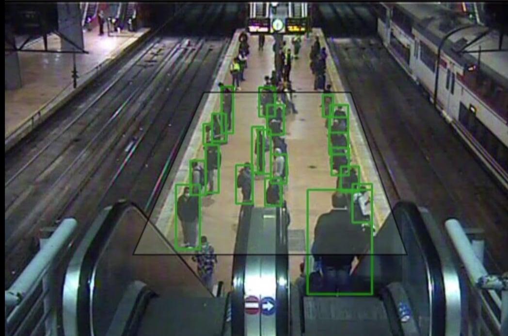 Imágenes del proyecto de videoanalítica con IA de Renfe.